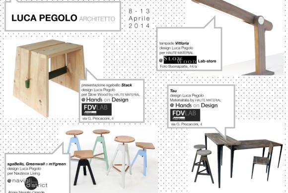 Luca Pegolo espone al Fuorisalone 2014 di Milano – 8/13 Aprile