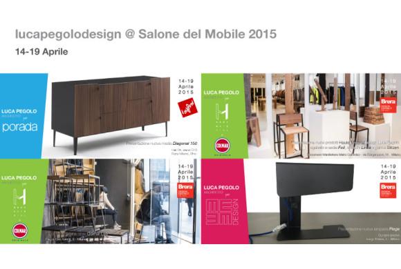 Luca Pegolo espone al Salone del Mobile 2015 di Milano – 14/19 Aprile